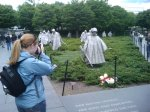 Denise at the Korean Memorial